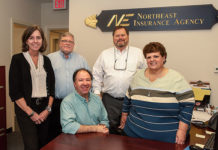 The Westborough staff of Northeast Insurance Photo/Kelly Burneson