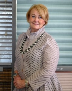 Eileen Gareau, owner of Porro's Custom Interiors, in the new store. (Photo/Nancy Brumback)