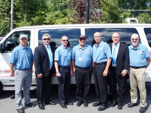 Knight's Airport Limousine Service staff (l to r) Brian Lafortune, Paul Barker, Mark Ford, John Robert, Mike Stratton, Paul Moroney and Robert Hoover File photo/Bonnie Adams