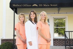 The Songbird Dental team, from left, Kim Wooten, Dr. Luciana Messina, and Marie Troy. Photo/submitted
