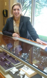 Stephanie Goldberg, owner, Stephanie G Jewelers. Photo/Nancy Brumback