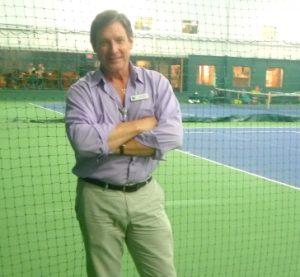 Darren McLaughlin on Wayside's indoor tennis courts Photo/Nancy Brumback
