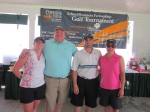 The tournament's first place winner was Small Business Insurance Agency, represented by Tara Fafard, Andy Kelly, Jeff Bastien, and Chris Mespelli. (Photo/submitted)