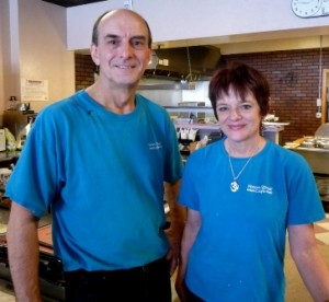 Randy and Mary Scott, owners of Main Street Café in Marlborough. Photo/Nancy Brumback