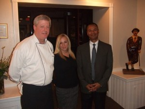 Executive chef Scott Campbell with assistant clubhouse manager Kelly Sullivan and General Manager Jeff Lawson. Photo/Margaret Locher