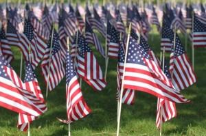 Flags Memorial Day
