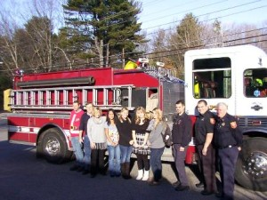 Grafton Fire Department visits the Grafton Children's Day Care and Preschool Center