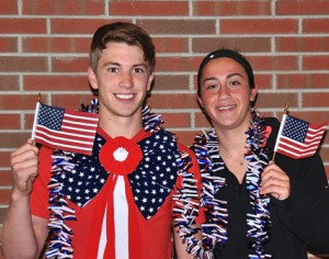 Most Patriotic: Dean Patulak and Cayla D'Amico