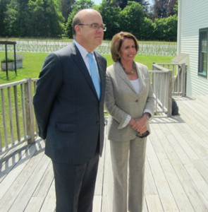 Congressman James McGovern (MA-02) and Nancy Pelosi, the minority leader of the United States House of Representatives  Photo/Bonnie Adams