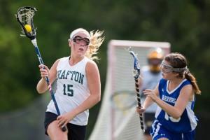 Grafton's Elizabeth Navin looks to evade a Wahconah defender.