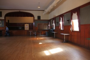 PNH's second floor hall is still used for dances, wedding receptions and other events. (Photos/Alex Cornacchia)