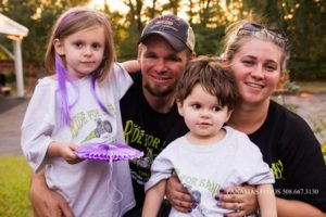 (l to r) At last year's ride (l to r) Sophia, Joel, Sadie and Amanda Laflamme. Photos/submitted