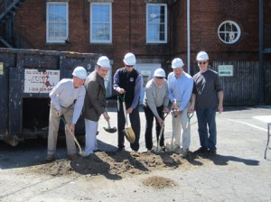 Town officials break ground on the renovation project