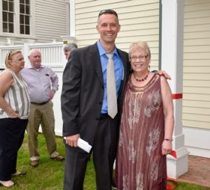 Town Manager Timothy McInerney with Donna Blanchard, the organization's executive director
