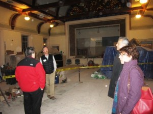 Andy Deschenes, the owners' project manager, discusses some of the work being done at the Town House. Photo/Bonnie Adams