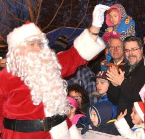 Santa Claus arrives at Grafton Common.