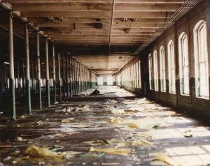 Empty interior of the Fisherville Mill, before it burned down. (Photos/submitted)