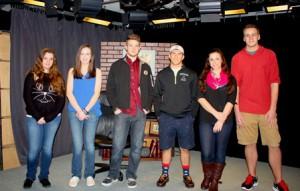 (l to r) Grafton High School students Jessica Harrington, Theresa Romaniec, Noah Arnold, Matt David, Lauren Esper and Tanner Manzello .