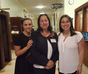 Stephanie Durand, Lizett G. Frias (center) with her daughters, Stephanie Durand (l) and Nicole Durand Fanning. Photo/submitted.