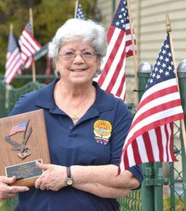 Past Commander Sue Conrad of Hudson AMVETS Post 208. Photo/Ed Karvoski Jr.