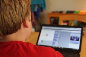 Scratch Club member Jaxon Capobianco works on a project using the program.  Photo/Dakota Antelman