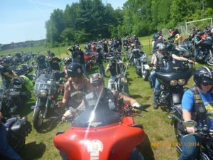 Motorcyclists prepare to hit the road during a past T's Ride.