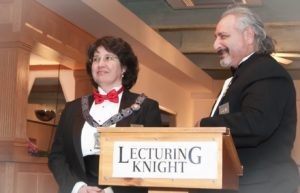 Zenaide Swanson, the esteemed lecturing knight of Hudson-Concord Elks #959 with Dave Hoffman, the esteemed lecturing knight of Clinton Elks #1306. (Photo/Karlen Photography)