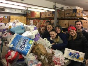 Dropping all of the donations off after the show are (l to r) Jennie Guerard, Courtney Matthews, Robbie Short, Heather O'Toole, Julie Burgess, Avry Beccia, Samantha O'Toole and Zachary Supernor. (Photo/submitted)
