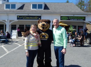 State Rep. Danielle W. Gregoire, D-Marlborough and State Rep. Harold Naughton Jr., D-Clinton with Blades