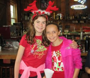Olivia Vitorino and Elly Hansen show their holiday spirit.