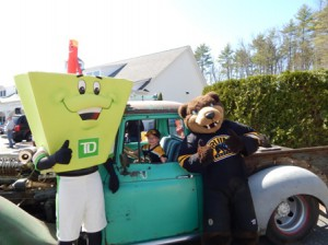 Liam with TD mascot and Blades