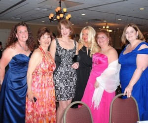 Gathered at the ballroom are Marlborough Junior Woman's Club members (l to r) Katherine Hennessy, also a School Committee member, Edna Fine, Linda Woodward, Jennifer Leuck, Brenda Geary and Denise Ryan, also a School Committee member.