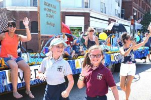 Immaculate Conception School wins Grand Marshal's Trophy for best overall float. Photos/Ed Karvoski Jr.