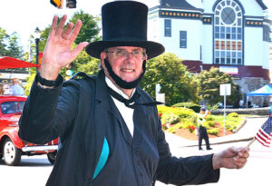 For the 33rd year, Marlborough resident Steve Symes marches as President Abraham Lincoln. Photos/Ed Karvoski Jr.
