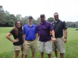Courtney Miceli, Jeff Valois, Darryl Diamond and Thomas DeMoura represented DCU in the 23rd annual RF Wood Kids Classic Golf Tournament. (Photo/submitted)