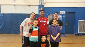 Youth of the Year Stephan Barthold with club members during a wiffle ball game (Photo/submitted)