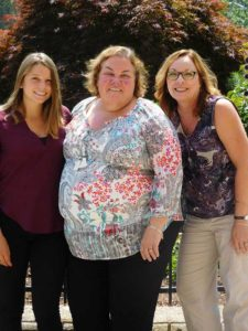 (l to r) Abigail Chrisafideis, public health intern; Patricia Moran, public health nurse; and Cathleen Liberty, director of Local Health Board of Health Photo/Nance Ebert