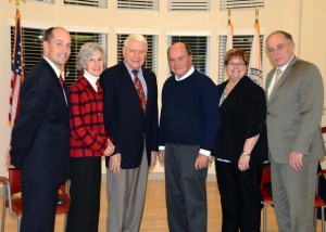 Marlborough Brigham Family Trust Board members ( l to r) - Steve LeDuc, Nancy Cleary, Ray Johnson, Chair Robert Kane, Beth Wagner and Ronald Brault. Not pictured is Trish Pope. (Photo/courtesy Daniel McQuaid)