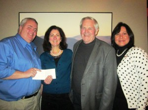 (l to r) Matthew Simoneau, Evening of Giving committee member; Susan Gentili, director of continuum of care and services, SMOC; Bob Kays, Evening of Giving committee chair; and Ivette Mesmar, Evening of Giving food committee chair   Photo/submitted