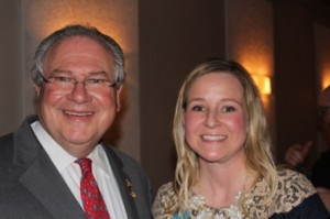 Speaker of the Massachusetts House of Representatives, Robert A. DeLeo urged supporters and fellow Democrats to support State Representative Danielle Gregoire's bid for re-election at her campaign kickoff held recently. (Photo/submitted)