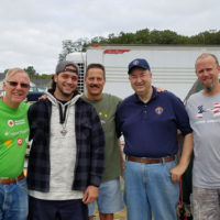 Roger (Iraq War veteran, second from left) with K of C members (l to r) Michael Callahan, Richard Kearns, Michael Tremblay and Chris Lundberg. Photo/submitted