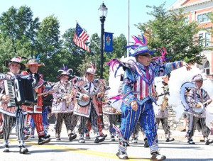 Best known for participating in Philadelphia's annual Mummers Parade, the Aqua String Band visits Marlborough.