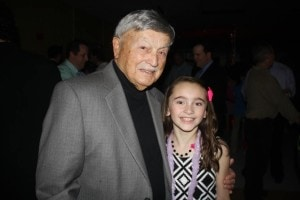 Gregory Mitrakas Sr., a major sponsor of the Lions Club annual Father-Daughter dance, with granddaughter Elyssa Mitrakas at last year's event