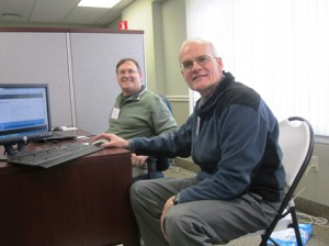 (l) Bruce LeBlanc and Bill Burger, volunteer income tax assistance preparers  Photo/submitted