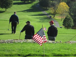 Getting ready to tee off at Marlborough Country Club's Military Appreciation Day.