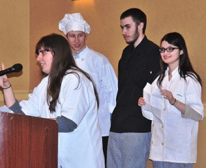 Seniors (l to r) Samantha Brown, Keith Moyer, Josh Sargent and Lorena Roche express their gratitude for the MOVE program.