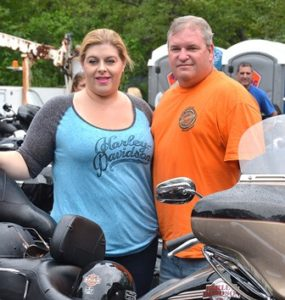 Michelle and Fred Meyers of Marlborough are ready to ride.