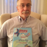 William Smith with his book