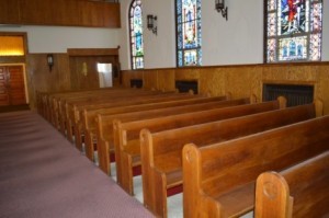 Holy Trinity parishioners have been polishing the pews in preparation for its first Mass, Sunday, May 11.