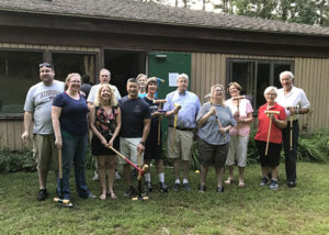 Croquet tournament participants included (first row, from left) Liz Greer, Pam Narahara, John Narahara, Ann Weston, Stan Hanson, Emily Hanson, Linda Hanson, Elaine Recklet and Peter Recklet; (second row) Harold Greer, Frank Dutt and Marlea Dutt. Photos/submitted